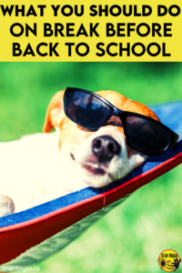 Are you looking for some ways to enjoy your break from teaching? Try out some of these so you are refreshed and ready for back to school.