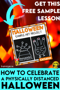 Are you looking for ways to celebrate Halloween, but have to be socially distanced or have other related restrictions? We put together a collection of simple art lessons, but we want to give everyone this lesson for free. Just come read about it and become a teaching ninja.