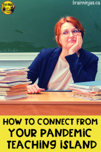 Are you feeling lost and alone as a teacher in this pandemic? First, you're not alone. Second, come get some ideas to reconnect. We're here for you, ninjas.