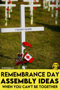 Are you trying to plan a Remembrance Day assembly around social distancing requirements? We came up with a way to have your ceremony. Come try out our list of safe and simple Remembrance Day ideas.