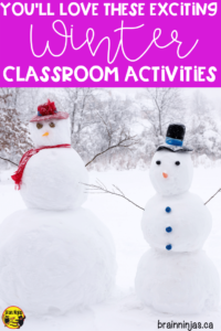 Come see some of the winter classroom activities we do all winter long (and it's always long up here in Canada). We got winter themed math and language arts. Of course we haven't forgotten about going outside for winter activities and winter lessons. We've even included some winter art projects and a digital escape. You can have so much fun during the winter in your upper elementary classroom with these great indoor and outdoor activities.