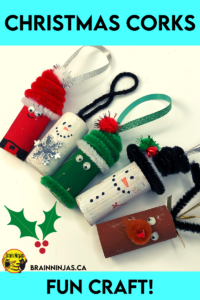 Recycle some of those corks or small round containers to make some adorable Christmas ornaments. This makes a great craft for the classroom or homeschool. Come get all the instructions and suggestions to make your own.