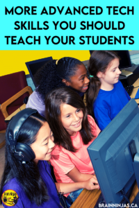 Once your upper elementary students are using technology in the classroom or for distance learning regularly, you might need to teach them some more advanced tech skills to help them be more productive. Come check out this list of useful computer skills your students will need to use technology efficiently and effectively.