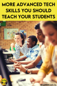 Once your upper elementary students are using technology in the classroom or for distance learning regularly, you might need to teach them some more advanced tech skills to help them be more productive. Come check out this list of digital skills your students will need to use technology efficiently and effectively.