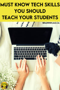 When distance learning became the norm, we were grateful for teaching our students some basic tech skills so they could navigate Google Classroom and use the tools for their learning. Come read out list and grab a free checklist so you can make sure your students have the basics whether they are working in class or online. Come read it!