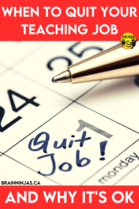 There are lots of reasons to quit a teaching job and none of them have to do with the teaching part. It's ok to change your teaching job. Come read this list of reasons to quit and how you can start the process (spoiler alert-none of them mean walking away from teaching completely).