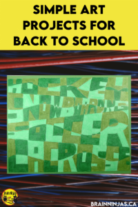 Are you looking for some amazing back to school art projects? You can grab the directions to create for this one on our site. Come check out these great art projects perfect for the first day of school.