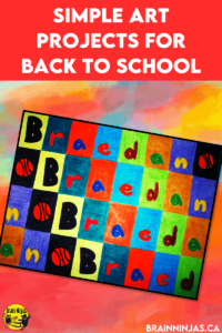 Are you looking for some amazing back to school art projects? You can grab the instructions for this one on our site or get the free lesson plan in our Resource Library when you become a teaching ninja. Come check out these great art projects perfect for the first day of school.