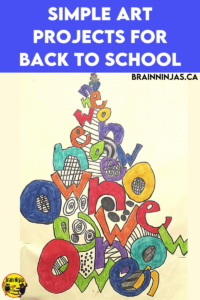 Are you looking for some amazing back to school art projects? You can grab the instructions for this one on our site. Come check out these great art projects perfect for the first day of school.