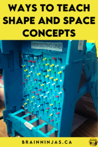 Are you looking for ways to teach 2D shapes and 3D objects to your upper elementary students? This is one of our favourite units. We teach shape and space concepts with interactive math notebooks, task cards, Boom Cards and a huge project where we build an arcade. It's so much fun! Come see how we do this in our math classroom.
