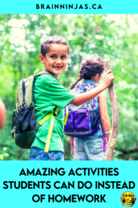Are you looking for activities your students can do at home instead of homework? We don't assign homework in our upper elementary classroom. Instead, we assign activities students can do with friends and family and it's been a big hit. Come find out what you activities you can do instead of homework.