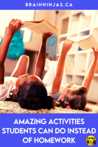 Are you looking for activities your students can do at home instead of homework? We don't assign homework in our upper elementary classroom. Instead, we assign activities and it's been a big hit. Come find out what you activities you can do instead of homework.