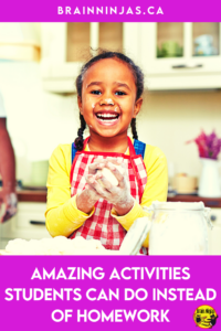 Are you looking for activities your students can do at home instead of homework? We don't assign homework in our upper elementary classroom. Instead, we assign activities that the family can do together to spend quality time together and it's been a big hit. Come find out what you activities you can do instead of homework.