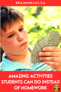 Are you looking for activities your students can do at home instead of homework? We don't assign homework in our upper elementary classroom. Instead, we assign activities like reading, hiking and cooking and it's been a big hit. Come find out what you activities you can do instead of homework.