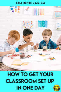 Are you stuck in a time crunch with one day to set up your classroom? Yes, it can be done. Get down to the basics and leave everything else for later. Come read about how we've set up our classroom in one day.