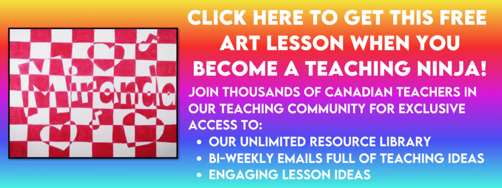 Get this free checkerboard art lesson that is perfect for back to school by clicking on the picture.