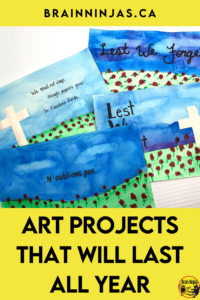 If you are an elementary teacher who has to teach their own art lessons, this is the post for you. It comes with a big list of things you need in your elementary classroom along with several free art lessons that don't require special materials. Come take a read to get your art lessons organized for the whole year. Best of all, these are art lessons designed for Canadian students with Canadian perspectives in mind.