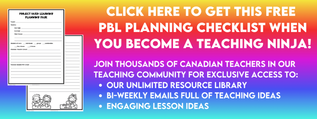The trick to project based learning is the work the teacher does behind the scenes to set students up for success. Come grab this PBL Planning Checklist when you join our email list.