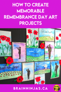 Are you looking for some new Remembrance Day art projects that go beyond painting poppies? We've created these projects with our Grade 4 and Grade 5 students. We wanted a variety. You can grab all of these lessons to create the best Remembrance Day display ever. Come take a look and read through the detailed art lesson instructions.