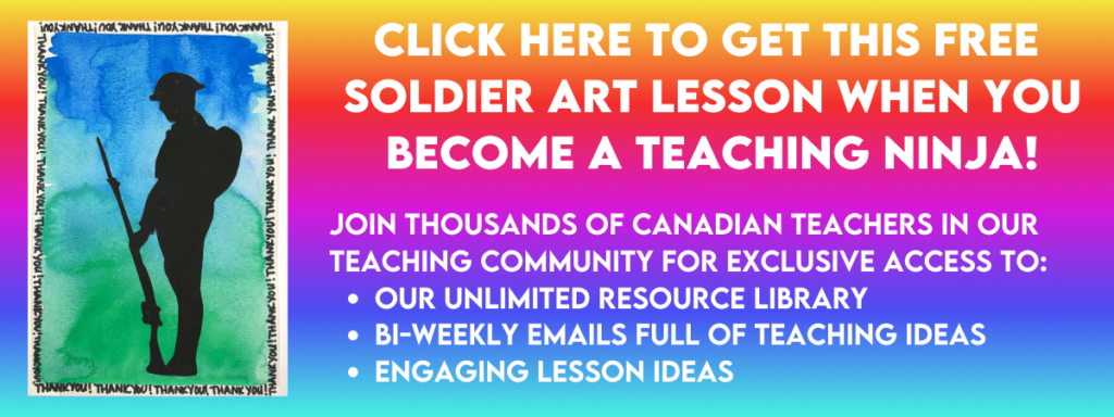 Get this free Remembrance Day art project when you sign up for our email list. It can also be found in the Resource Library.