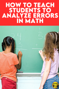 When students understand how they make mistakes while calculating math equations, they can begin to prevent making them. We teach our students to analyze errors in math. Come see how we use this strategy to help students deepen their math understanding and grab a free activity you can use in your upper elementary math class. We use this activity with our grade four and grade five math students and all of them benefit from it.